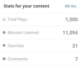 Mixcloud 1000 plays